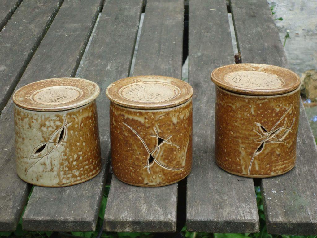 Zwiebeltöpfe Keramik mit Ascheglasur Handgedreht Kassel